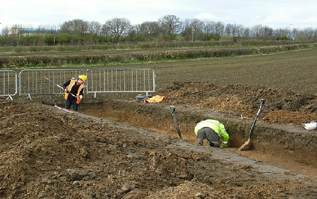 Archaeological trenching