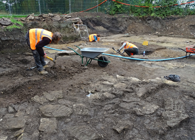 Uncovering 2nd century Roman remains at West Road, Newcastle